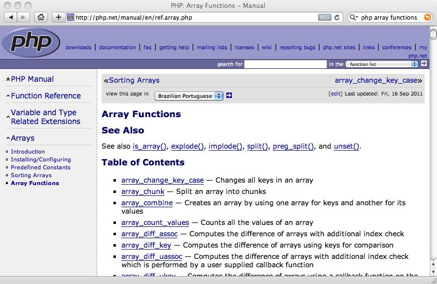 php array last key
